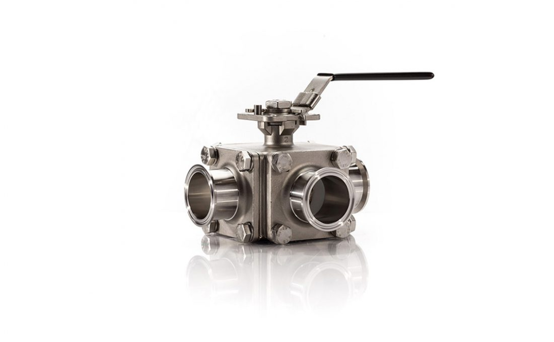 30-92061 3 Way Sanitary Ball Valve