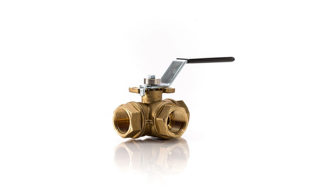 33D Brass 3 Way Ball Valve