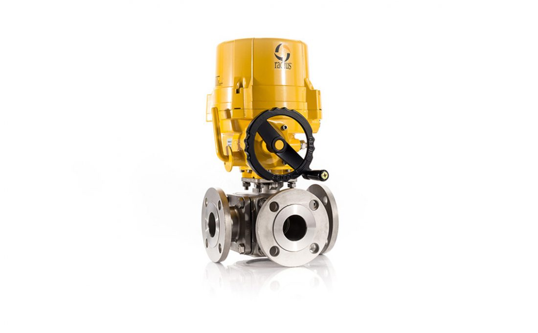 Electric 36 Flanged Ball Valve Assembly