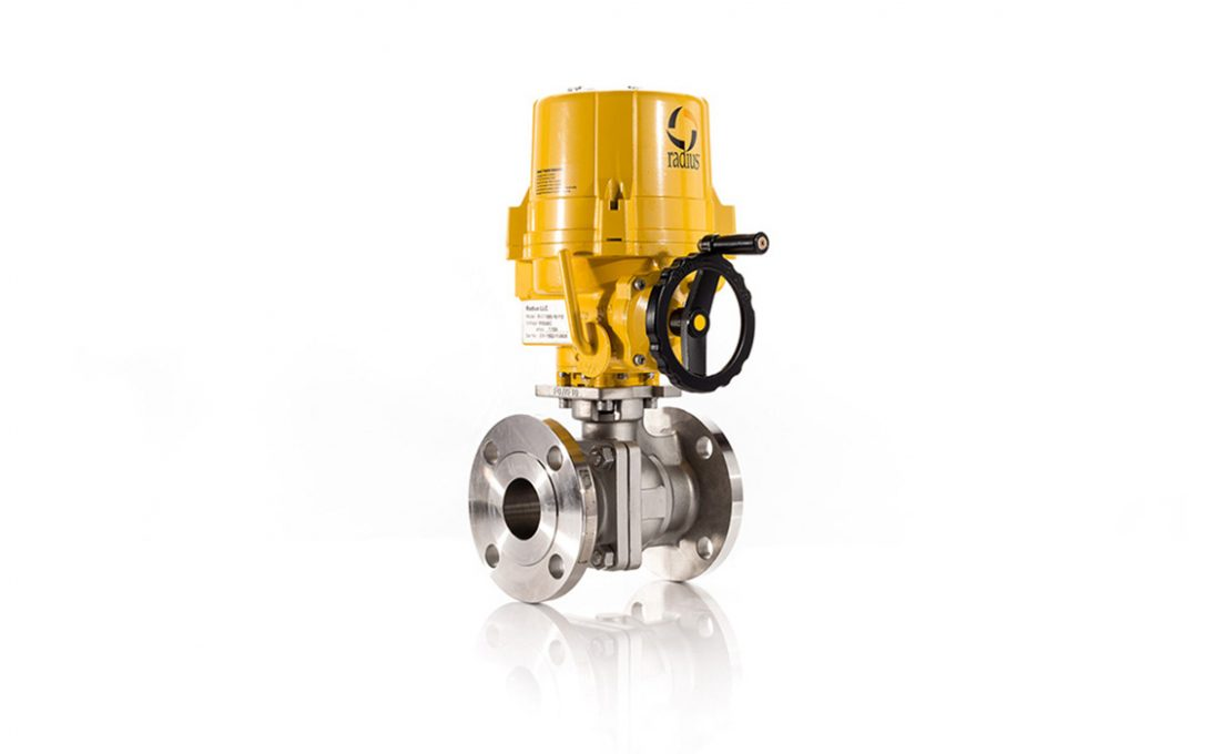 Electric 9000 Flanged Ball Valve Assembly
