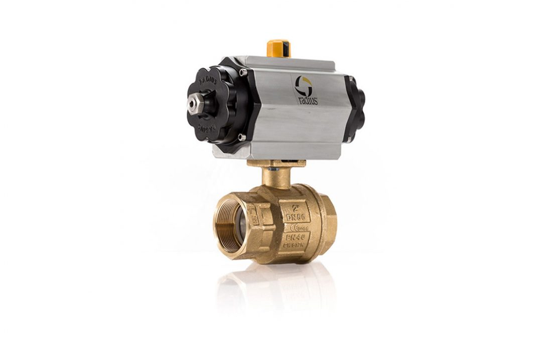 Pneumatic 22D Brass Ball Valve Assembly